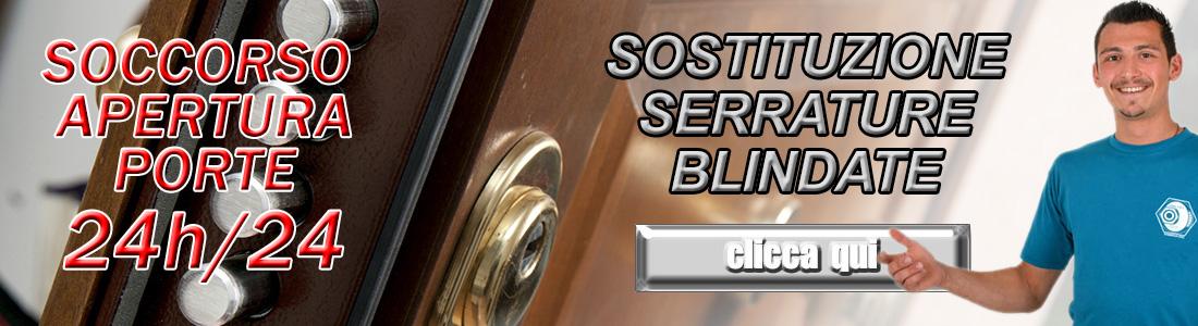 SOSTITUZIONE SERRATURE PORTE BLINDATE